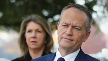 Shadow health spokeswoman Catherine King and Opposition Leader Bill Shorten.