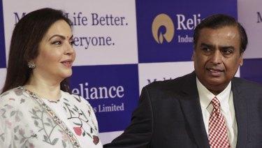 Power couple: Nita and Mukesh Ambani.