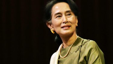 Aung San Suu Kyi is under pressure over the Rohingya crisis.