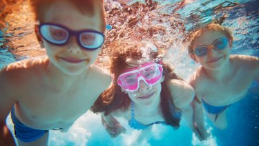 Swimming lessons are not without their challenges.