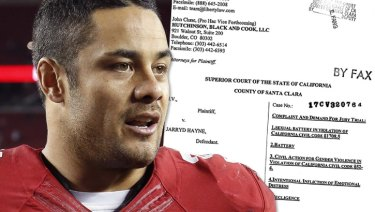 The alleged assault occurred when Jarryd Hayne was playing NFL for the San Francisco 49ers.