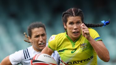 Confident: Australia's Charlotte Caslick says the home side are ready to meet expectations.