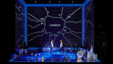 The Matrix-esque set of The Curious Incident of the Dog in the Night-Time.