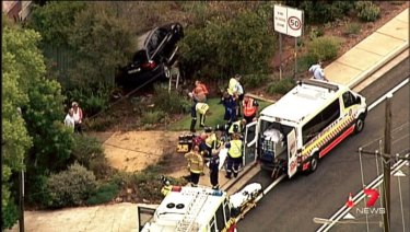 Police said the man died at the scene of the Berowra Waters Road crash.