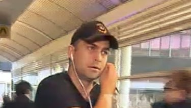 Brian Lake at Melbourne Airport on Sunday.