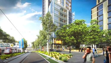A draft plan in 2016 proposed tens of thousands of new homes in Sydney Olympic Park. But road access issues remain unresolved.