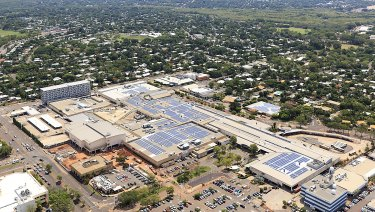 Solar panels on GPT's Casuarina Square shopping centre in Darwin.