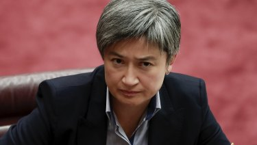 Penny Wong: canvassed a call for Australia to recalibrate its relations with Washington.