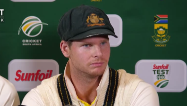 Facing the music: Steve Smith admitted to a ball tampering ploy.