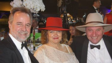 Nigel Scullion, Gina Rinehart, Barnaby Joyce at the National Agriculture Day celebration last year.
