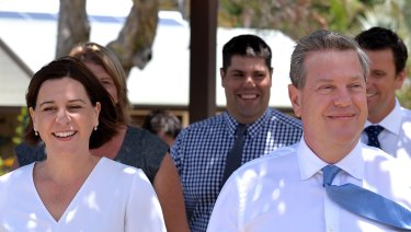 Deputy Opposition Leader Deb Frecklington will contest the LNP leadership, after Opposition Leader Tim Nicholls announced he would not fight for the position at Tuesday's partyroom meeting.