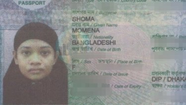 Bangladeshi woman Momena Shoma, 24, has been charged with terrorism after an alleged Islamic State-inspired stabbing in Melbourne on February 10.