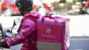 A foodora delivery rider