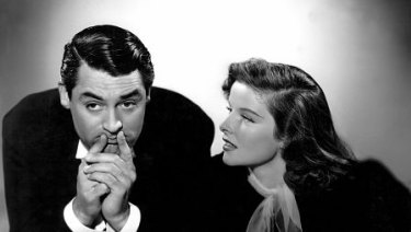 Cary Grant and Katharine Hepburn in the 1938 film Holiday.