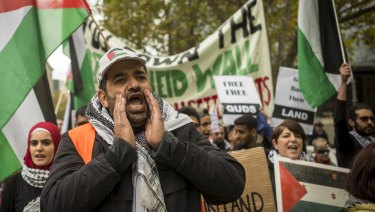 The pro-Palestine protest attracted around 700 people to the CBD.