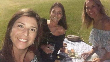Cecilia Haddad with friends Carolina Camara and Rita Maciel.