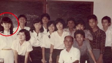 Professor Rose Amal when she was a high school student in Indonesia.