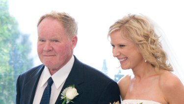 Gerard Helliar with his daughter Kate Campbell at her wedding in 2008.