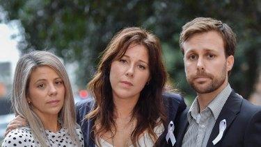 The Rowley children, Nadine, Renee and Aaron.