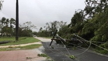 The aftermath of Cyclone Nora in Pormpuraaw, on the western Cape York Peninsula.