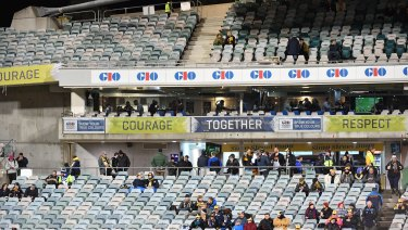 There were plenty of spare seats at Canberra Stadium.