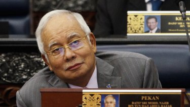 Malaysian Prime Minister Najib Razak in Parliament on Wednesday.