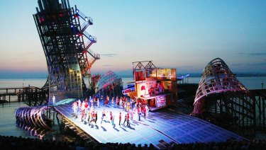 Francesca Zambello has previously directed a floating production of West Side Story in Europe.
