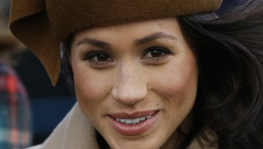 Meghan Markle arrives at the Christmas Day service.