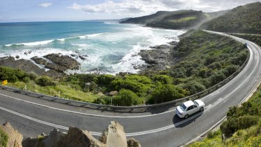 The Great Ocean Road has overtaken the Great Barrier Reef in visitor numbers.
