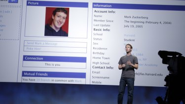 Facebook CEO Mark Zuckerberg talks about the site's history in San Francisco in 2011.