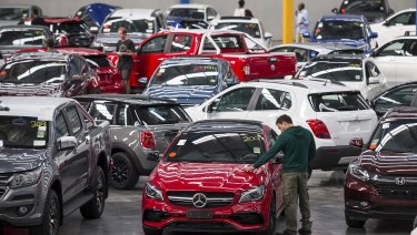 $17 million of luxury cars damaged by hail went under the hammer in Tullamarine on Saturday.