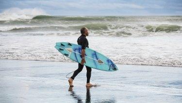 Surfer Tom Carroll is a brand ambassador for Shark Shield.