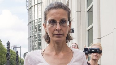 Clare Bronfman, left, as she left federal court in Brooklyn on Tuesday.