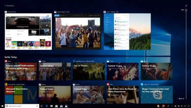 The new Timeline view shows you what you've been doing in Microsoft products across devices.