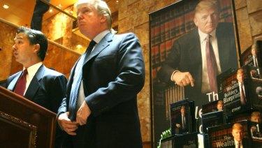 Real estate mogul and TV star Donald Trump announces the establishment of Trump University in 2005.