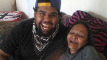 A recent photo of Wonyarna Edwards, pictured with his grandmother.