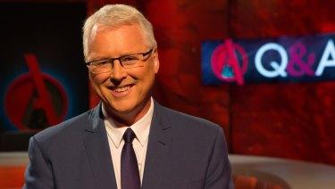 Tony Jones, the host of <i>Q&A</i>.