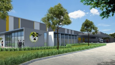 Artist's impression of the new warehouse Frasers will build for FDM Warehousing