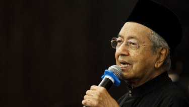 Malaysian Prime Minister Mahathir Mohamad, 92, after his stunning victory on May 9.