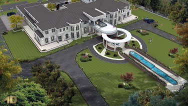 A rendering of Cr Khan's planned home in Tarneit.