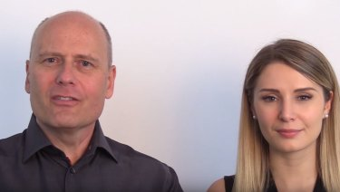 Stefan Molyneux and Lauren Southern.