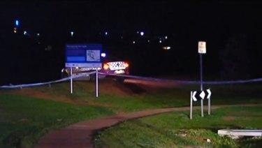 Police at the scene of the stabbing in Melton.