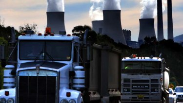 Trucking on: Bayswater power station in the Hunter will become more efficient - but not necessarily cleaner.