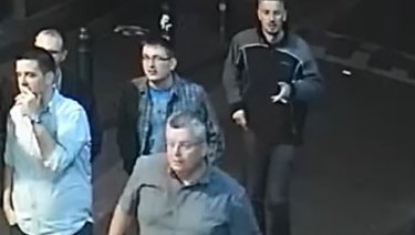 CCTV footage captured of the five men police want to speak to in relation to the theft of Thor's hammer.