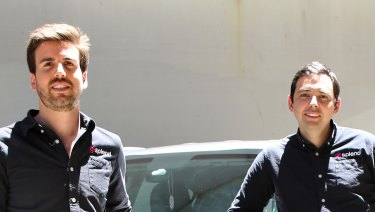 Splend executives Chris King (left) and Nathan Halliday (right) have signed a lease in North Melbourne.