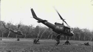 Troops arriving in Vietnam