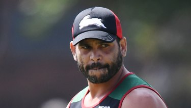 Brave stand: South Sydney skipper Greg Inglis has had enough of racism in football.