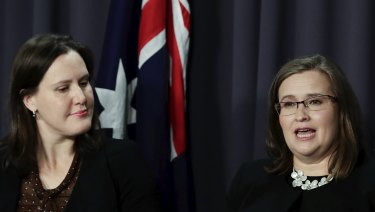 MP Kelly O'Dwyer and Sex Discrimination Commissioner Kate Jenkins.