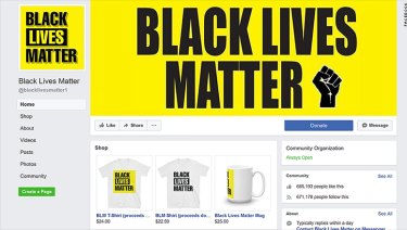 A screenshot of the Facebook page, taken by CNN.