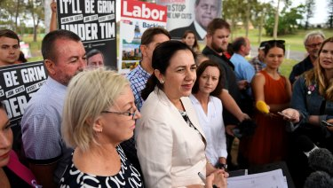 Annastacia Palaszczuk was trying to divert attention from Labor member Jo-Ann Miller's hug with Pauline Hanson yesterday.